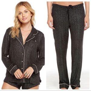 Chaser Sleep Set Pajama Glitter Pants Top Lounge